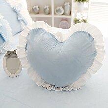 Baozengry Heart-Shaped Kissen Kissen Kissen Waschbar Heimtextilien Garten, 45 X 45 Cm, Blau