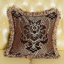 Baozengry Im Europäischen Stil, Luxus Gesäumten Kissen Bett Rückenlehne Sofa Kissen Kern Mit Großen, Amerikanischen, 30 X 50 Cm Kissenbezug Kissen Kern, Farbe Karte