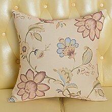 Baozengry Mode Bedruckte Bettwäsche Sofa Kissen Kissen Taille Kissen Bett Kissen Paket Mit Core Nap Vom Amt, 55 X 55 Cm Kissenbezug Kissen Kern, Große Braune Blume