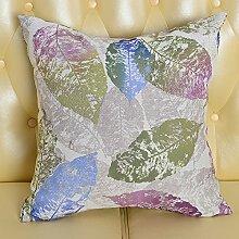 Baozengry Mode Bedruckte Bettwäsche Sofa Kissen Kissen Taille Kissen Bett Kissen Paket Mit Core Nap Vom Amt, 55 X 55 Cm Kissenbezug Kissen Core, Lila Blätter