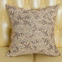 Baozengry Mode Bedruckte Bettwäsche Sofa Kissen Kissen Taille Kissen Bett Kissen Paket Mit Core Nap Vom Amt, 55 X 55 Cm Kissenbezug Kissen Core, Braune Blätter