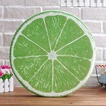 Baozengry Obst Wassermelone Büro Sessel Kissen Kissen Kissen Kissen Heimtextilien Simulation, 40 X 40 Cm, Frucht Grün Zitrone Sitzkissen