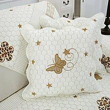 Baozengry Rückenpolster Bett Tuch Kissen Siesta Kissen Büro Taille Kissen Rose, 45 * 45 Cm Kern, Schmetterling