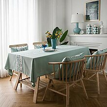 baporee Reine Farbe Baumwolle Hanf Tischdecke