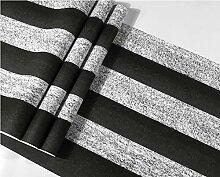 baporee Retro schwarz-weiß vertikal gestreifte