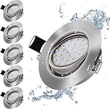 bapro 6er LED Einbaustrahler Set, Dimmbar
