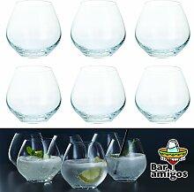 Bar Amigos Gin- und Tonic-Gläser ohne Stiel,