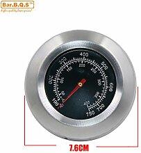 Bar.B.Q.S 01T04 Barbecue Grill 76mm Grill Ofen Thermometer Smoker Grill Thermometer Thermometerbereiche von 50 bis 400 ℃ / 100-750 ℉ Fahrenheit Gartemperatur