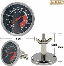Bar.B.Q.S 01T09 Kochen Lebensmittel-Fleisch-Küche 6cm Grill Temperatur lesen Thermometer Werkzeug Thermometer im Freien