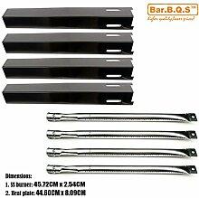 Bar.b.q.s Ersatzteile für Edelstahlrohre Grill Gasgrill Brenner 4pk, Porzellan-Stahlplatten -Wärme Wärme Tent - 4pk für perfekte Flamme Modell: GSC3318, GSC3318N