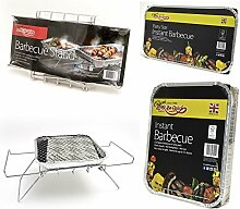 Bar-Be-Quick Instant-Grill stehen. Faltbare