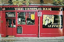 Bar Blechschild - The Temple Bar - 20x30cm Nostalgieschild Retro Schild Metal tin sign