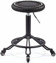 Bar chair Retro Schmiedeeisen Lift Hocker/Hair Work Hocker/Arbeit Hocker/Front Chair/Barhocker/Beauty Stuhl/Haushalt Stuhl/Registrierkasse Stuhl/Bar Barhocker (Multi-color optional) (Farbe : B)