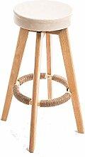 BAR STOOL Einfacher Barhocker Aus Massivem Holz,