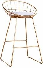 Bar Stühle moderne einfache Bar Stühle Bar Freizeit High Bar Bar Hocker Persönlichkeit Mode Front Stühle Barhocker ( Farbe : Gold )