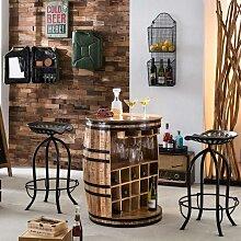 Bar Theke aus Mangobaum Massivholz rustikalen