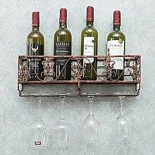 Bar Weinglas Rack hängen Schmiedeeisen kopfüber