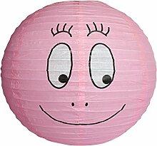 Barbapapa - große Retro Kinder Papierlampe Hängelampe - Barbapapa Pink