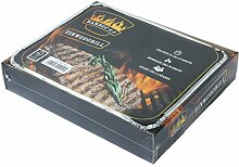 Barbec-U 200100001192 Einweggrill, silber, 30 x 25 x 4 cm