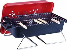 Barbecue Grill, Portable Edelstahl Holzkohle Barbecue Camping Outdoor BBQ Utensil Barbecue Werkzeuge 50 * 28 * 23cm