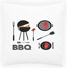 Barbeque Bbq Grill Essen Dekoratives Kissen, Kissenbezug mit Einlage/Füllung oder ohne, 45x45cm m875p