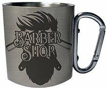 Barber shop Edelstahl Karabiner Reisebecher 11oz