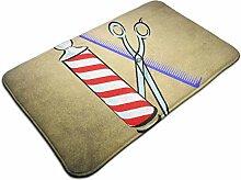Barbershop Pattern Indoor Fußmattenrücken