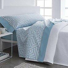 Barceló Hogar 0 Biber-Bettwäsche 90 cm blau