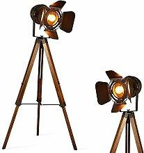 Barcelona LED Vintage Stehleuchte Tripod Stehlampe