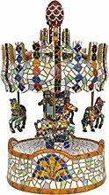 barcino Karussell Spieluhr in Mosaik 26cm