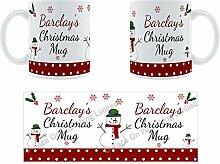 Barclay'Weihnachten Becher, Tasse, Keramik,