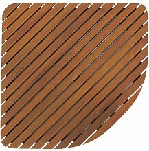 Bare Decor Dania Corner Shower Spa Mat, 24 by 24-Inch, Solid Teak Wood and Oiled Finish by Bare Decor
