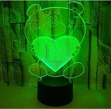 Bares - 3D Illusion Dekoration Nachtlicht Love