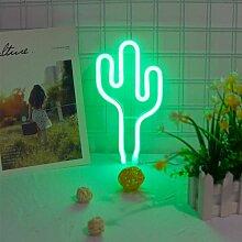 Bares - LED-grüner Kaktus LED Neon Sign Neon
