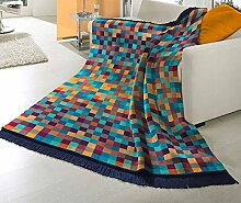 Baretti Baumwolldecke Mosaik mit Fransen
