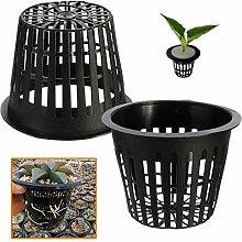 Bargain World 10pcs Schwarz Kunststoff Wasserkulturplanting Ineinander greifen Netz Pot Baskets Gartenanlage wachsen Cup