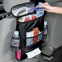 Bargain World Auto Sitzrückseiten Speicher Beutel Auto Multi Halter Taschen heiße kalte Insulated Organisator Spielraum Aufhänger Beutel