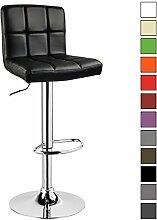 Barhocker 1 er Barstuhl Tresenhocker Stuhl drehbar und höhenverstellbar Tresen Hocker Kunstleder Schwarz 9107-1