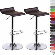 Barhocker Design Drehstuhl Hocker Barstuhl Lounge Hocker Stuhl 2x Braun BH11br