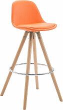 Barhocker Franklin Kunstleder Rund-orange-Natura