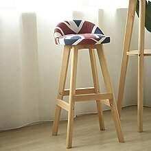 Barhocker Holz Drehbar Stuhl Hochstuhl Tisch Stuhl