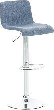 Barhocker Hoover Stoff-blau