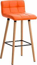 Barhocker Lincoln Kunstleder-orange