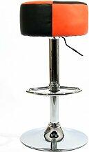 Barhocker orange schwarz höhenverstellbar runder