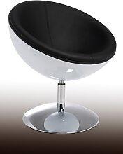 Bari - Loungesessel - Weiß/ Schwarz