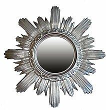 BAROCK ANTIK WANDSPIEGEL SONNE IN Silber 42x42 CM