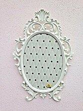 Barock Bilderrahmen Barock Antik Weiß Oval 43x27
