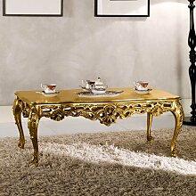 Barock Couchtisch in Goldfarben Pappelholz