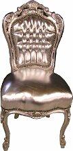 Barock Esszimmer Stuhl Silber / Silber