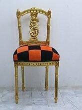 Barock Kinderstuhl Sessel karo Antik Stil AlCh0320 antik Stil Massivholz. Replizierte Antiquitäten von LouisXV Buche (Ahorn, Mahagoni, Eiche) Antikmessing Beschläge, furniert, intarsier